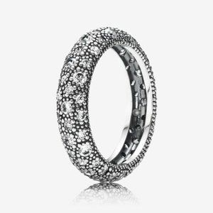 Pandora Cosmic Stars Ring, Clear CZ